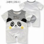 ชุดบอดี้สูทมาใหม่ ลายหมีแพนด้า สีขาว-ดำ สไตล์เกาหลี ผ้า cotton เนื้อนุ่ม ใส่สบาย