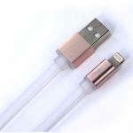 สายชาร์จโทรศัพท์มือถือแบบถ่ายข้อมูลเร็ว ชาร์จเร็ว Quick Charge&Data USB สำหรับ iPhone สายแบน 100cm.สีขาว - Remax