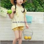 กางเกงเด็กขาสั้น สีเหลืองไซส์ 7,11,13,15