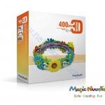 Magic Nuudles® ตัวต่อทำจากแป้งข้าวโพด ธรรมชาติที่ดีที่สุด ขนาด 400 ชิ้น ต่อกล่อง