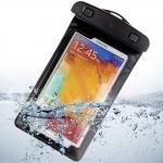 ซองมือถือกันน้ำ ใส่ได้ทั้งไอโฟนและซัมซุง แบบมีสายรัดแขน คล้องคอได้ ดำน้ำได้ สีดำ