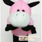 ตุ๊กตามือ วัวน้อย สีหวาน สีชมพู