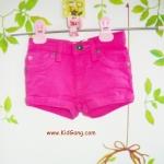 กางเกงยีนส์เด็กขาสั้น สีบานเย็น ไซส์ 3Y