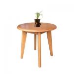 โต๊ะกาแฟกลมไม้จริง 60 ซม.ดีไซน์สวย สไตล์โมเดิร์น วางคู่กับโซฟา สำหรับร้านกาแฟ ร้านเบเกอรี่