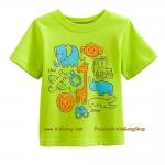 เสื้อเด็กเนื้อนิ่ม ลาย Animals ไซส์ 18-24ด,2,3,4,5,6 ปี