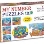 Creative's ของเล่นเสริมทักษะ ชุด Creative's my number puzzles 1 to 10