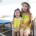ชุดเลูกสาว สีเหลืองสดใส ไซส์M,L,XL