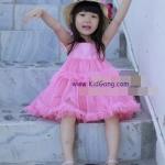 ชุดเด็ก(เดรส)สีชมพู ไซส์ 5