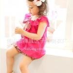 เสื้อผ้าเด็ก ชมพูโบระบาย ไซส์ 11