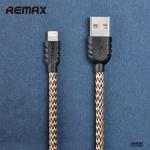 สายชาร์จโทรศัพท์มือถือสไตล์เท่แบบเชือกถักรุ่น Nylon for Iphone6/PLUS/5s/5 สีเหลือง - Remax