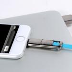 สายชาร์จโทรศัพท์มือถือ สายเดียว ใช้ได้ทั้ง Android & iPhone (มีกลิ่นหอม) สีฟ้า - Remax รุ่น USB HIGH SPEED