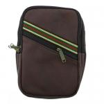 กระเป๋าสะพายข้าง ทรงสีเหลี่ยม แนวสปอร์ต สำหรับผู้ชาย สีน้ำตาลเข้ม
