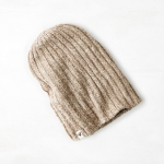 หมวกไหมพรม American Eagle Ribbed Reversible Beanie - Oatmeal Heather