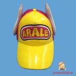 หมวกหนังอาราเล่มีปีก สีเหลือง