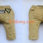 กางเกงยีนส์เด็ก สีน้ำตาล-กากี ไซส์ 11