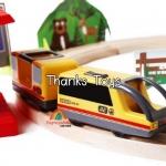 ชุดรถไฟ Playtive 80 teile Holz-Eisenbahn