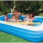 ( ขนาด 10 ฟุต ) INTEX ™สระว่ายน้ำเป่าลมขนาดครอบครัว (305 x 183 ซม.) ขนาด 3 เมตร ***58484NP**