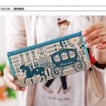 กระเป๋าสตางค์ลายการ์ตูนแฟชั่นสไตล์เกาหลี