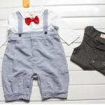ชุดหมีแฟนซีมาใหม่ ชุดหมี+เสื้อกั๊กสีเทา ผ้า cotton เนื้อนุ่ม ใส่สบาย น่ารักมาก