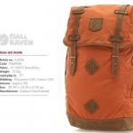 Fjallraven - NO.21 size ใหญ่ Large สีส้มเข้ม (Pumpkin)