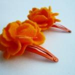 กิ๊บติดผมเด็ก Mini love สีส้ม(1คู่)