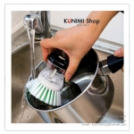 GK086 แปรงที่ขัดล้าง หม้อ กระทะ ถ้วย ชาม มีที่ใส่น้ำยาล้างจานในตัว