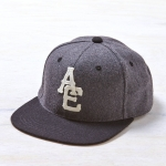 หมวกแฟชั่น American Eagle Applique Logo Flannel Baseball Cap - Charcoal