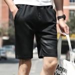 กางเกงขาสั้นแฟชั่นเกาหลี ลายทาง : สีดำ