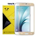 Diamond ฟิล์มกระจกนิรภัยกันกระแทก Samsung S6 เต็มจอ สีทอง