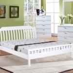 เตียงนอนไม้ สีขาว ดีไซน์โมเดิร์น สำหรับคอนโด โรงแรม (HW-SERIES)