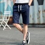 กางเกงขาสั้นแฟชั่นเกาหลี CAMO : สีกรมท่า