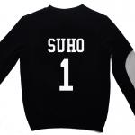 เสื้อ EXO SBS Inkigayo Black / Suho