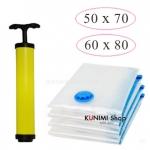 GH150 ถุงสูญญากาศเป็นเซ็ต 4 ใบ ขนาด 50x70 cm (2ใบ) , 60X80 (2ใบ) และ กระบอกสูบ 1 ชิ้น