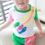 ชุดเด็ก ปลาน้อย แบบที่2 (เซท) ไซส์ 12,18,23ด,2,3ปี (เสื้อเด็ก+กางเกงเด็ก)