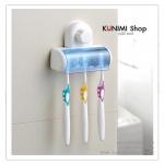 GK057 ที่แขวนแปรงสีฟัน มีฝาครอบปิดป้องกันสิ่งสกปรก ยึดติดแบบสูญญากาศไม่ต้องเจาะ