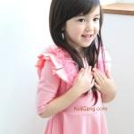 ชุดเด็ก(เดรส)_pink ideal ชมพูโอรส ระบายแขน ไซส์ 5