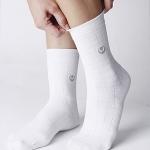 ถุงเท้า(สีขาว) เส้นใยบำบัดอัจฉริยะ แนะนำในผู้ที่มีอาการเท้าชา ปวดข้อเท้า และฝ่าเท้า หรือผู้ที่บาดเจ็บบริเวณเท้า