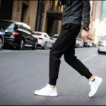 กางเกงขายาวแฟชั่น ทรงJOGGER PANTS สีดำ
