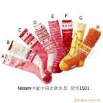 nissen ถุงเท้ายาวหลากสี 8 แบบ สูง21 cm