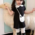 ชุดเสื้อดำแมว+กางเกง ไซส์ 100-110-120-130-140