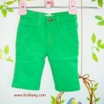 กางเกงยีนส์เด็กสีเขียวไมโล(ขาสั้น) ไซส์ 1Y