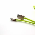 สายชาร์จโทรศัพท์มือถือแบบถ่ายข้อมูลเร็ว ชาร์จเร็ว Quick Charge&Data USB สำหรับiPhone สายแบน 100cm. สีเขียว - Remax