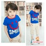 เสื้อ CI&SI หน้ายิ้มสีน้ำเงิน ไซส์ 90-100-110-120-130