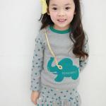 Huanzhu kids ชุดเซตเด็กหญิง 2 ชิ้น เสื้อ+กางเกง ผ้าเนื้อดีน่ารักสไตล์เกาหลี มีขนาด140