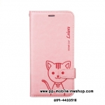 Leiers Domi Cat Series Stand Leather Cover w/ Strap for iPhone 6 plus