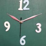 ชุดตัวเครื่องนาฬิกาญื่ปุนเดินเรียบ เข็มลายโมเดิน ขนาดกลาง เข็มสั้น-เข็มยาวสีชมพู เข็มวินาทีสีดำ อุปกรณ์ DIY