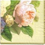 แนวภาพดอกไม้ เป็นช่อดอกไม้หลากชนิด เป็นภาพเต็มแผ่น กระดาษแนพกิ้นสำหรับทำงาน เดคูพาจ Decoupage Paper Napkins ขนาด 33X33cm