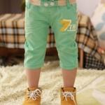 กางเกงเด็กสีเขียว ไซส์ 9