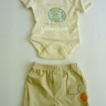 บอดี้สูทเด็ก โทนน้ำตาล 2 ชิ้น ไซส์ 0-3 เดือน