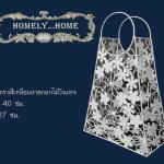 กระเป๋าทรงสี่เหลี่ยมลายดอกไม้